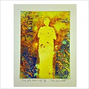 """""""Jag går min väg"""". Etsning av Pia Edstedt. 25x35 cm. ©PE BUS 18"""
