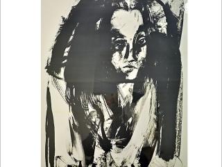 """""""Porträtt"""". Litografi av Jan Naliwajko. 70x90cm. ©JN BUS 18"""