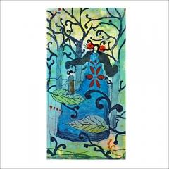 """10. """"Lilla du"""". Litografi av Catharina Edlund. 29x15cm."""