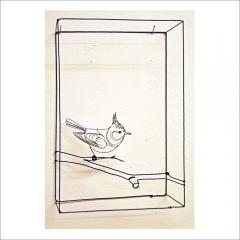 """14. """"Sidensvans"""". Trådslöjd av Daniel Henningsson. 30x20x10cm."""